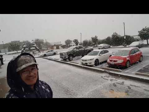 Snow In Palmdale Ca.