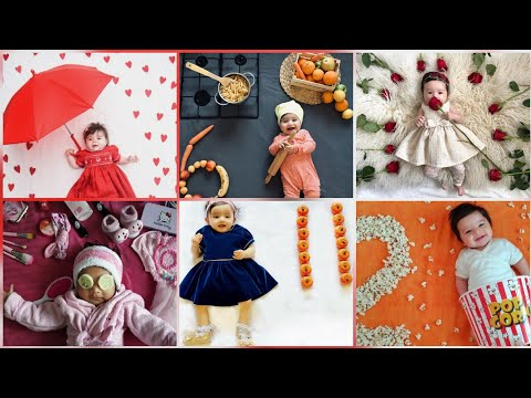 Baby Monthly birthday celebration ideas at home|baby photos ideas at home