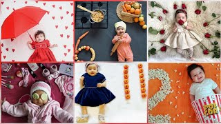 Baby Monthly birthday celebration ideas at home|baby photos ideas
