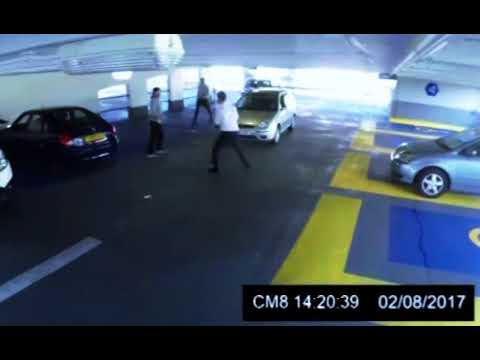 Car park fight ends in a BRUTAL KO!