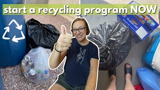 HOW TO START A REĊYCLING PROGRAM! 3 steps to set up a recycling program at work/school