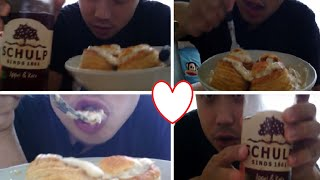 ☺♥asmr│ Dutch Meat Pie And Fruit Drink│eating Sounds♥☺