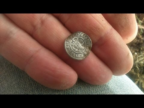 Club dig, excellent hammered silver coin and sixpence