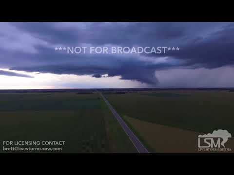 08-15-2017 Fullerton, Nebraska Structure- Supercell and Street Flooding