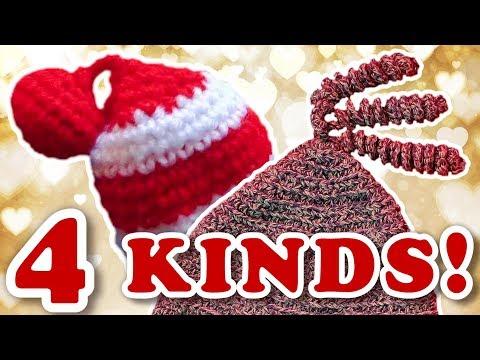 Crochet Hat Tassel - 4 Easy Patterns (Pom Pom * Coil * Star * Ball Pom)