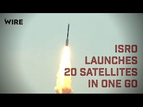 PSLV C34 mission: ISRO launches 20 satellites in one go