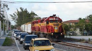 FEC Takes Over CSX - South Florida Railfanning - 03.10.2015