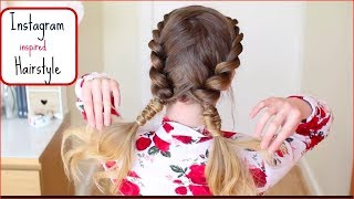 Instagram Inspired Hairstyle Tutorial | Pigtail Braids | Braidsandstyles12