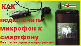 Как подключить микрофон к телефону без переходников и программ