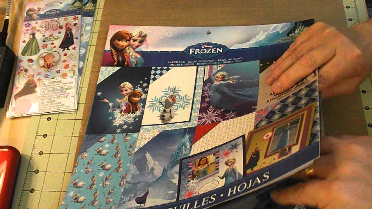 Frozen Scrapbook Paper From Walmart Youtube