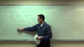 Calculus 1 Lecture 2.6:  Discussion of the Chain Rule for Derivatives of Functions