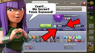 India's Highest War Star player secret trick revealed - Clash of clans INDIA (COC)