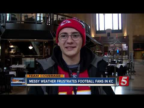 Messy weather frustrates football fans in Kansas City