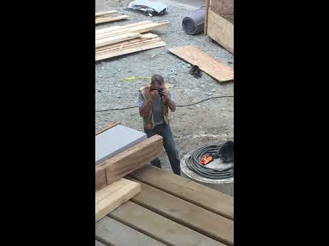 Angry construction guy