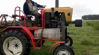 Ciągnik szczudłowy w intensywnej uprawie czarnej porzeczki