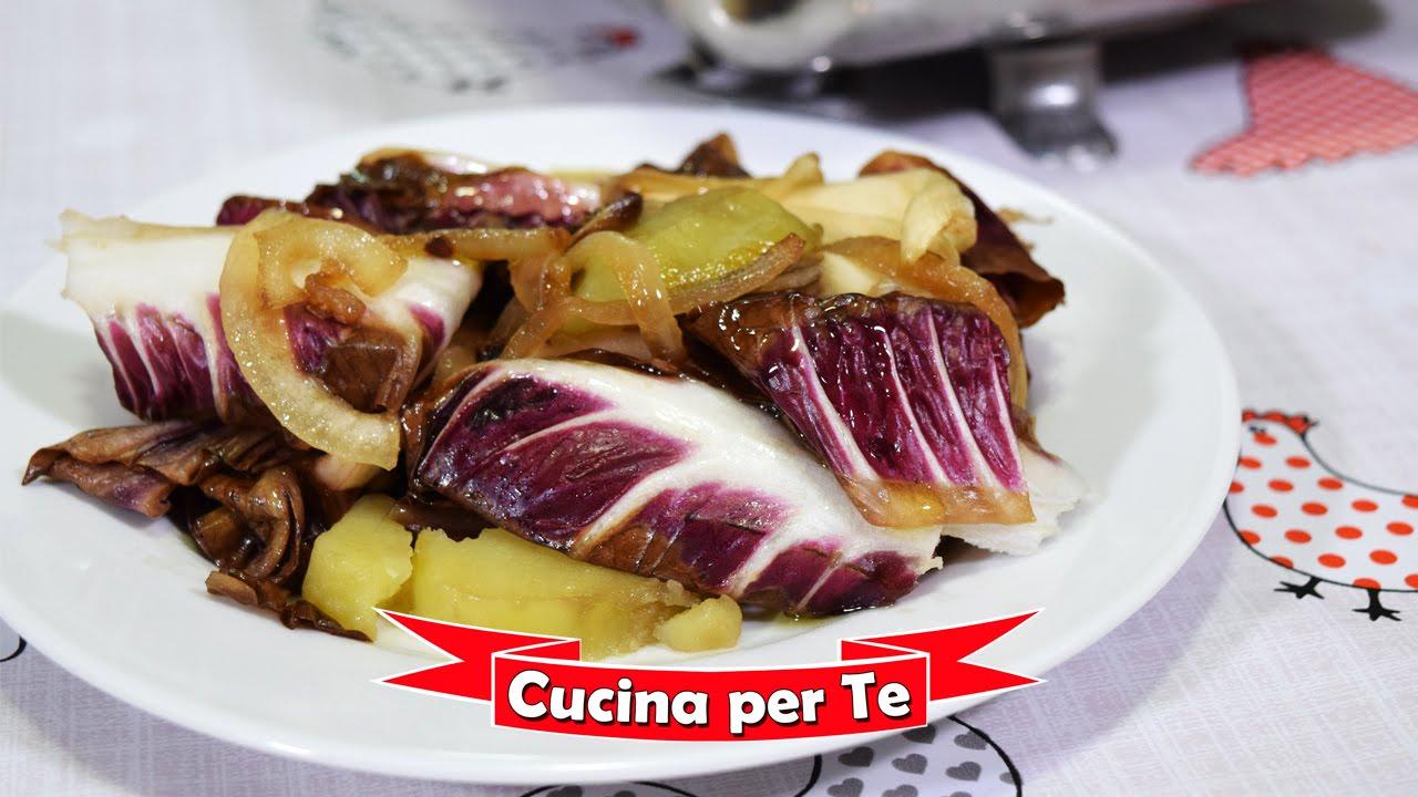 Radicchio e patate al forno ricetta vegana youtube for Ricette con patate