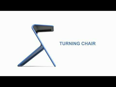 One chair, two chair, double-sided blue chair…