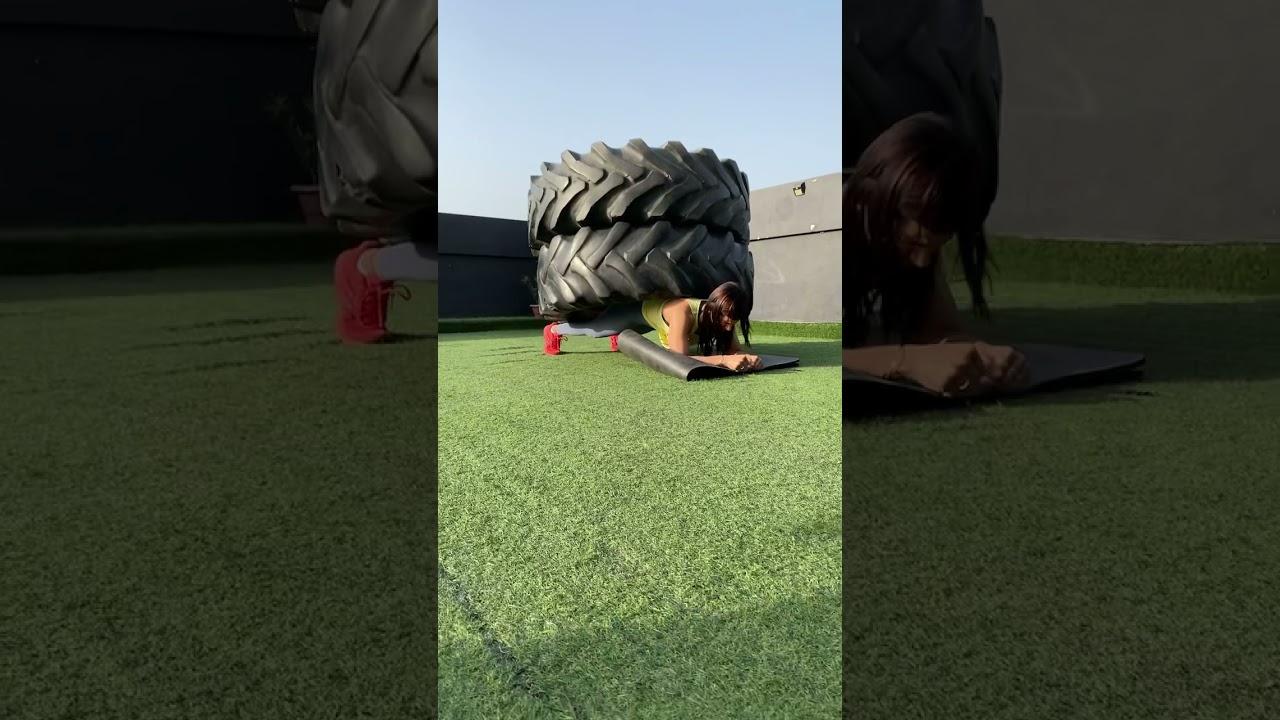 Double Tyre Plank Hold #Shorts #imkavy