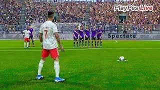 PES 2020 - FIORENTINA vs JUVENTUS - C.RONALDO Free Kick Goal - Gameplay PC