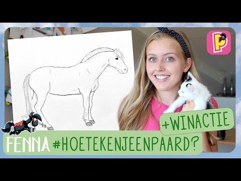 Hoe teken je een paard? + WINACTIE | Fenna | PennyTV