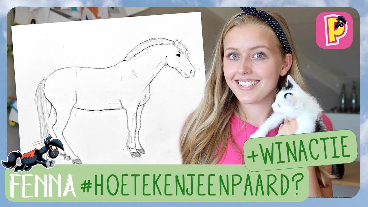 Fonkelnieuw Hoe teken je een paard? + WINACTIE | Fenna | PennyTV - YouTube WP-14