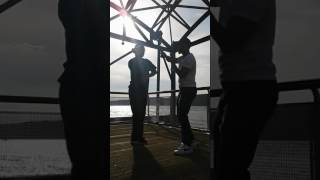 khyrie and terrence bushido flow with wooden sticks