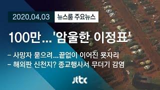 """[뉴스룸 모아보기] """"확진자 수 100만, 코로나의 암울한 이정표"""" / JTBC News"""