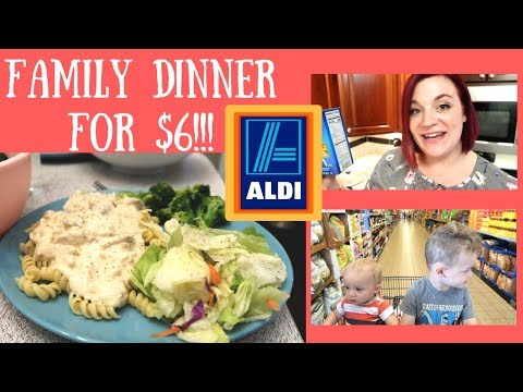 $6 DINNER FOR 4 AT ALDI! CREAMY ITALIAN CHICKEN RECIPE! CHEAP & DELICIOUS MEAL!
