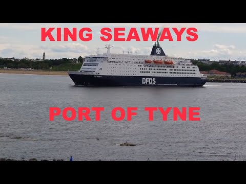 DFDS Ferry King Seaways Newcastle To IJmuiden (Amsterdam) 9th June 2019 King Of Scandinavia