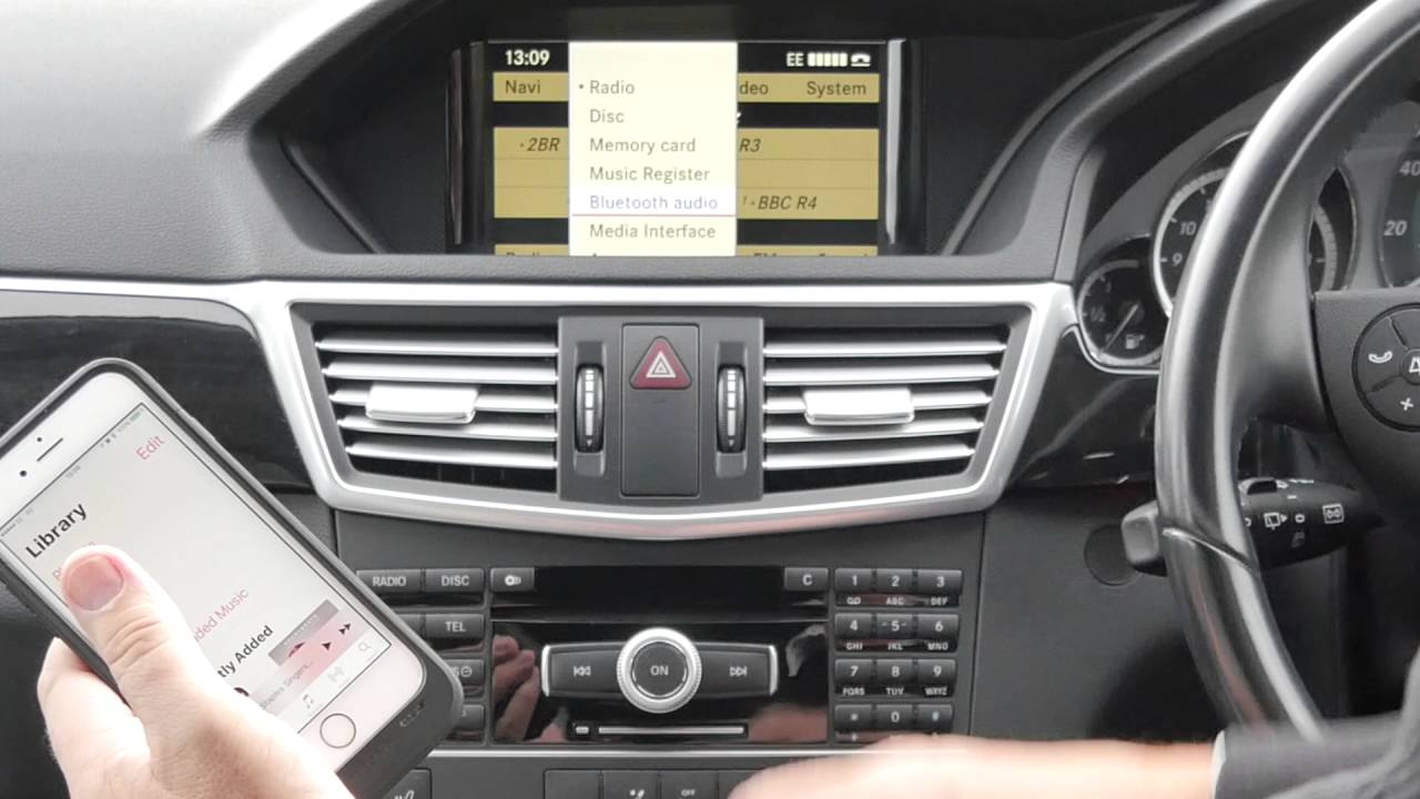 How To Play Audio Through The Bluetooth In A Mercedes Benz