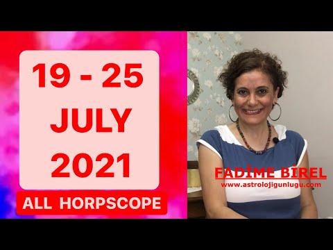 19-25 July 2021 Weekly Horoscope