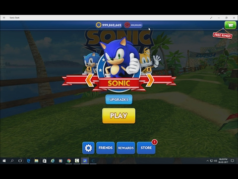How To Hack Unlimited Red Star Rings Of SONIC DASH In Windows 8,8.1,10