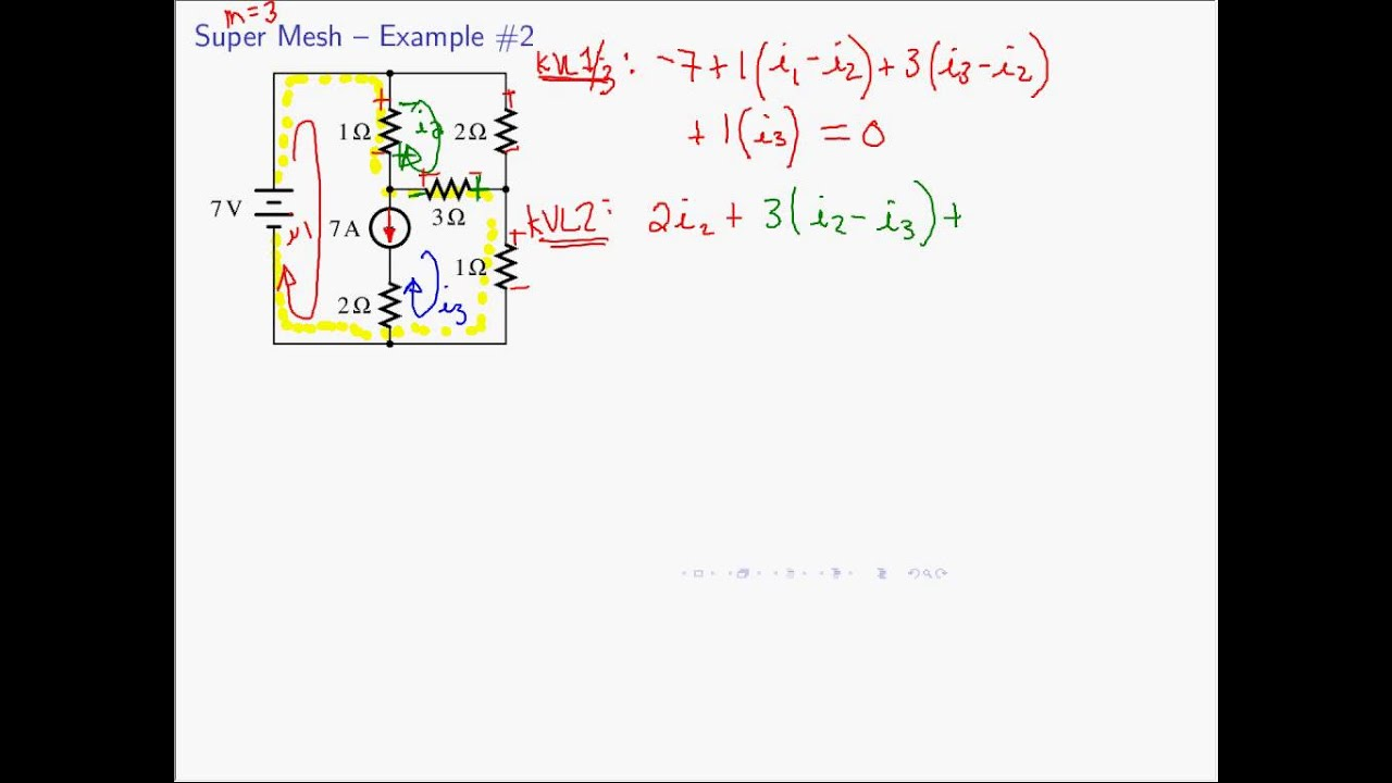 supermesh analysis solved problems pdf
