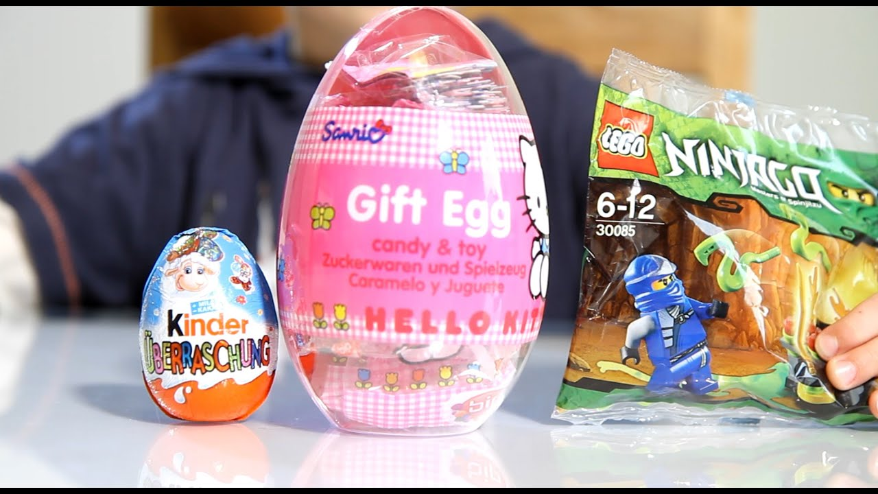 Kinder surprise easter egg big hello kitty gift egg and lego kinder surprise easter egg big hello kitty gift egg and lego ninjago youtube negle Choice Image