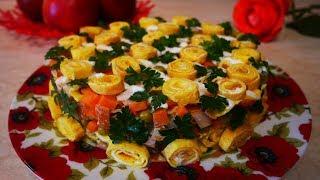 ШИКАРНЫЙ салат с Куриной Грудкой. Готовим ВЕГЕТАРИАНСКИЙ майонез