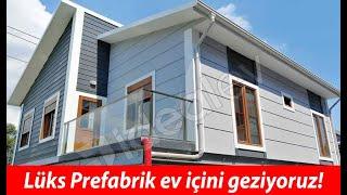 Lüks Prefabrik Evin içini geziyoruz !