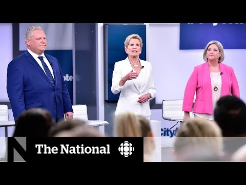 Ontario party leaders square off in first debate