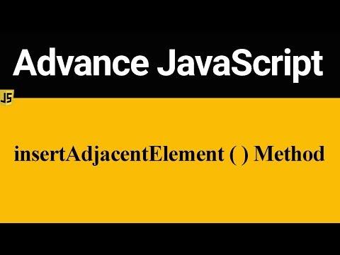 InsertAdjacentElement Method In JavaScript (Hindi)