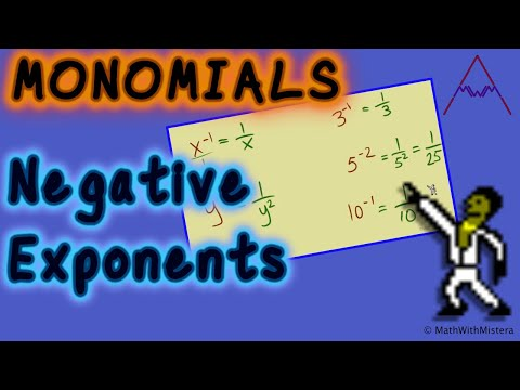 Monomials #3 - Negative Exponents