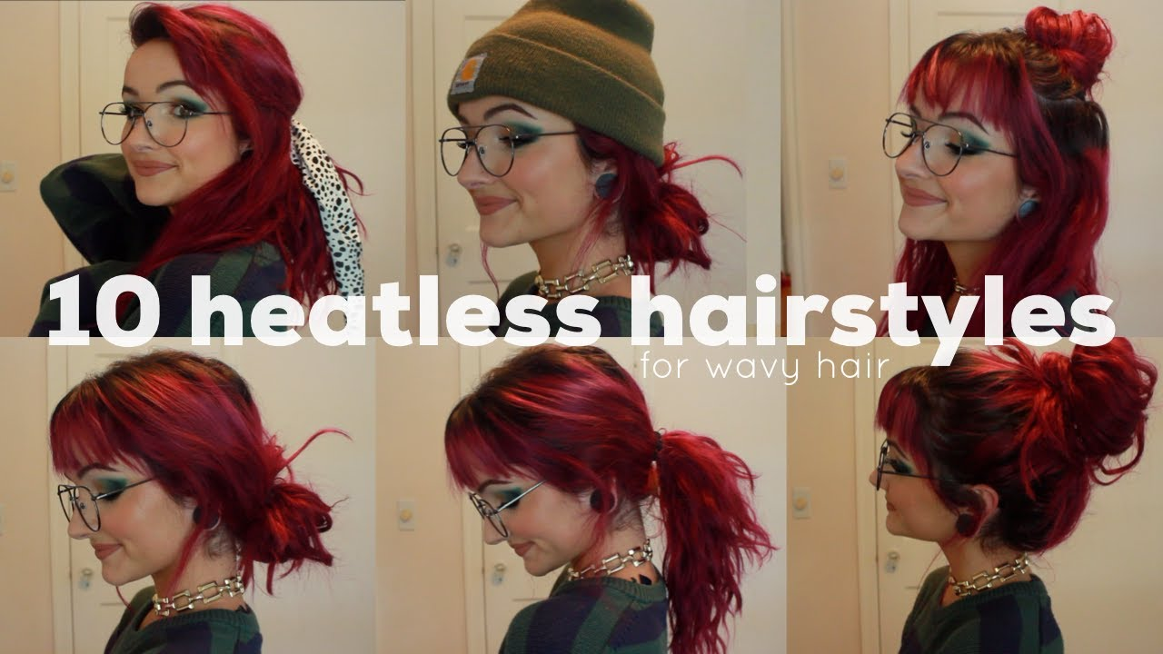10 hairstyle ideas for when your hair looks like a trash can \ wavy hair styles for second day hair
