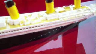 My titanic model sinking