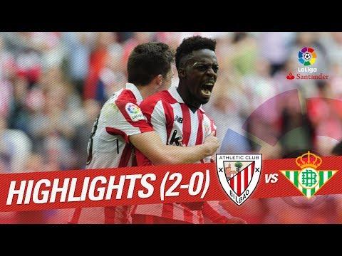 Resumen de Athletic Club vs Real Betis (2-0)