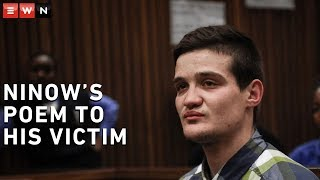 Convicted rapist Nicholas Ninow has broken down in court while reading out a poem he wrote for a seven-year-old girl he attacked in a toilet cubicle at a Dros restaurant in 2018.