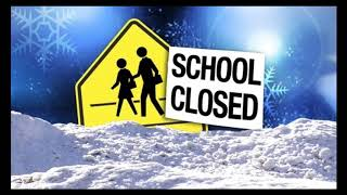 Which schools are closed tomorrow because of snow?