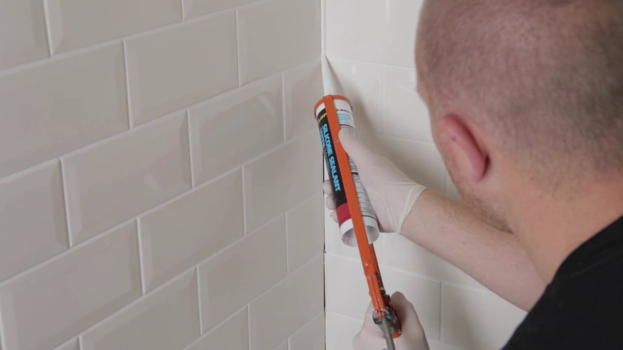 How To Tile A Kitchen Or Bathroom Walls In A Brick Pattern Youtube