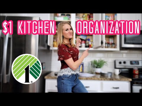 ORGANIZE A SMALL KITCHEN FROM DOLLAR TREE! (all The Motivation You Need!)