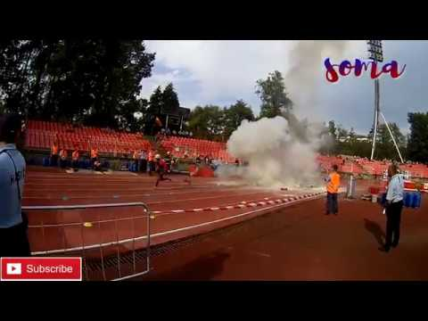 BELARUS vs. SLOVAKIA / RUNNING 4X100m OBSTACLES / WORLD CHAM