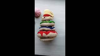 Пирамидка - обзор вязаной игрушки. Игрушка для малыша -несколько минут тишины для молодой мамы