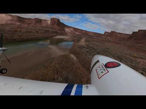 Landing on Mineral Canyon  Airstrip   on my Bonanza V35B