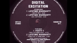 Digital Excitation - Lifetime Warranty (Vibes Of A Tribe Mix)